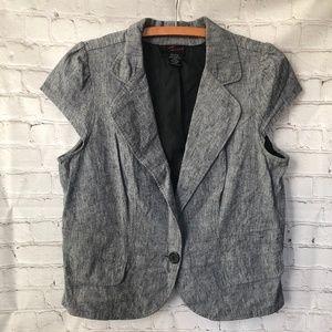 Torrid Short Sleeve Black Gray Jacket Coat 2 18/20